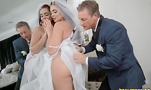 Weak-kneed stud bonks his daughter-in-law before wedding