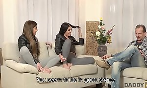 DADDY4K. Mom's several daughters getting naughty in their way property