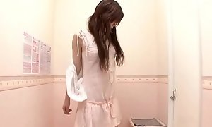Innocent Japanese cheating wife trying new bra