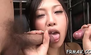 Asian'_s wild toying and said
