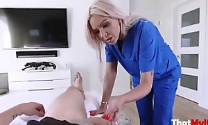 Mom Helps Son With His X-rated Balls- Nina Elle