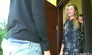 German MILF Seduce 18yr venerable Son from neighbor with reference near Fuck