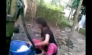 Desi village girl outdoor clean-cut