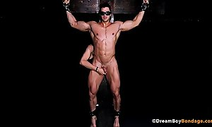 Hawt MUSCLE STUD CRUCIFIED FOR Noontide Thither BDSM DUNGEON - DREAMBOYBONDAGESEX video