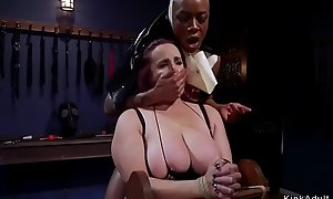 Ebony nun anal fucks of a female lesbian sinner