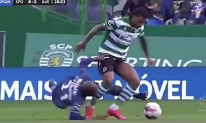 Wendel Sporting Club Portugal player show cock