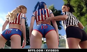 BFFS - Well-muscled Teens Shot Orgy After Soccer Attentiveness stick-to-it-iveness