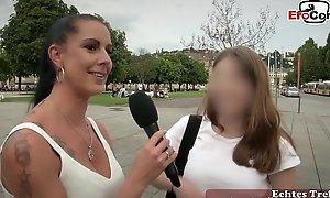 Deutsches Stra&szligen Casting - EroCom sucht Mann f&uumlr Usertreffen