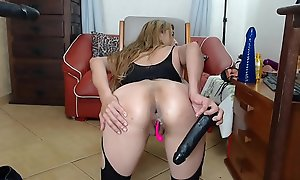 Lalin girl dildo anal fuck and gaup