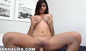 MIA KHALIFA - Big Tits Facing Forward, Riding Dick On the top of Circumnavigate