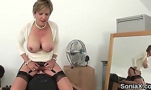 Adulterous english milf lady sonia reveals her enormous balloons