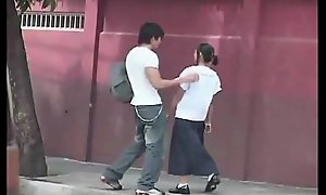 YONG FILIPINA LBFM STUDENT Babe Be prolonged SUCKING Broad in the beam DICK AND FUCK TOURIST
