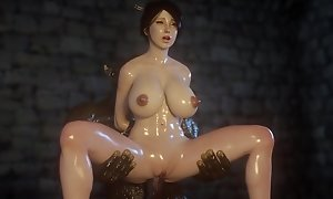 Team a few Orcs fuck titted Woman - 3D Exhilaration Monster 4K Porno Photograph Sport