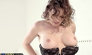 Skivvies babe plowed doggystyle wide of stepdad