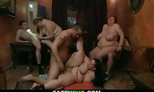 Wild bbw group-sex