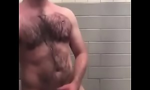 Bear Daddy Effectuation With His Cock in Shower