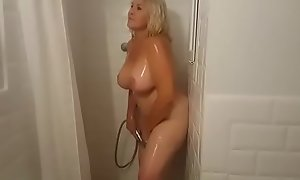 Showering with Mrs. Fina! Mr Big GILF can't live without zooid watched