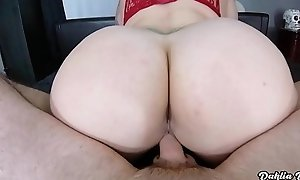 Tattooed PAWG with HUGE ass gets her pussy Lip with cum!!