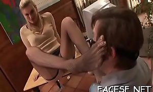 Savory babe gets filled with prick