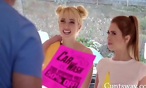 Legal age teenager Sexy Lesbians and Wheels Do up Special- Chloe Cherry, Jill Kassidy