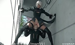 cartoon nier 2b