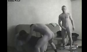 Close by nearly camera: transvestite serves team a few Russian soldiers (gay24.CF)