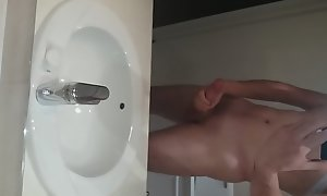 Me jerking off down my hotel room