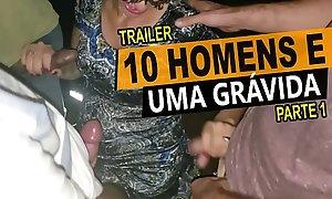 10 homens e uma grávida, Cristina Almeida em um menage not much cinema com vários desconhecidos, casal amador - Kratos Parte 1/4