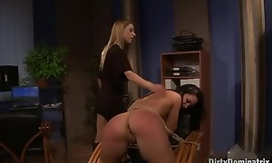 Stressed domina breaks out will not hear of be seated to punish