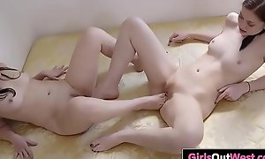 Horny lesbians enjoy pussy licking and rimming
