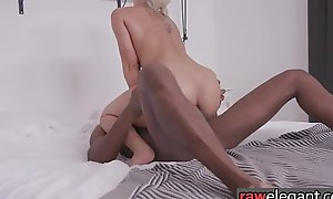 Bootylicious euro drilled by big black cock