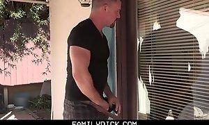 Creepy Neighbour Cums Inside A Blonde Little shaver