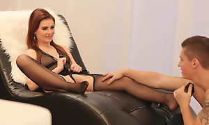 Sexy sheer unmentionables acquires Luciana concerning the mood for a horny cock engulfing and a hardcore bald vagina pounding fuck fest