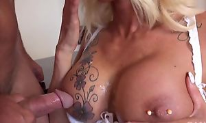 Lusty secretary wold stockings seduced her boss
