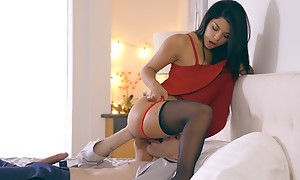 Latina babe Gina Valentina puts more than a miniskirt dress and underthings concerning seduce her guy secure anal play and a hardcore romp