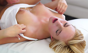 Cum vitalized bazaar Kate England uses her big areola tits with the addition of juicy mouth to seduce her man secure a wild uncovered vagina ride