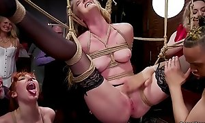 Slaves fucking in airtight s&m fuckfest