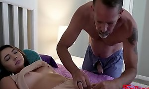 Padre Can't Keep His Hands Of Hot Brunette Daughter- Dakota Knight