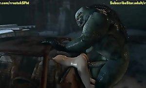 Zoe Baker stuffed in a difficulty buggy by hulky Zooid