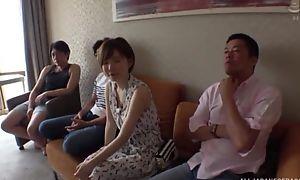 Short-haired Japanese lady enjoys vibrant fucking
