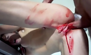 Small-tits teen gets bloody-banged by her day