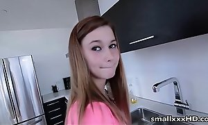 Anorexic Teen Fucks Phase in Kitchen - See her @ smallxxxHD free porn peel