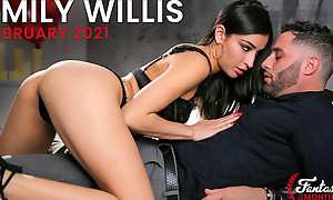 Awe-inspiring plus fuckable infant Emily Willis puts on her Valentines lingerie plus hops onto her beaus cock for a stark naked pussy ride