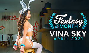 Vina Feel dresses in sheer Easter lingerie as that babe handcuffs her darling and rides his stiffie in this Fantasy of the Month