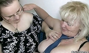 Dirty blonde granny loves shacking up a fat