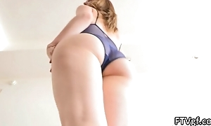 Sensual coupled with flexible american gymnast